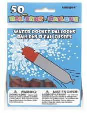 50 Water Rocket Balloons